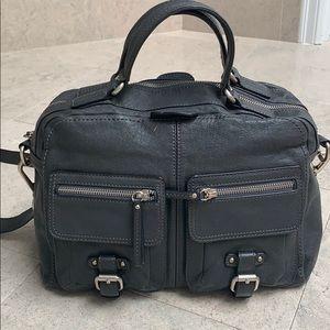 Banana Republic leather grey purse bag crossover